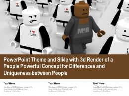 Powerpoint Theme Slide With 3d Render Of A People Powerful Concept For Differences And Uniqueness Between People