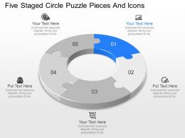 pp Five Staged Circle Puzzle Pieces And Icons Powerpoint Template