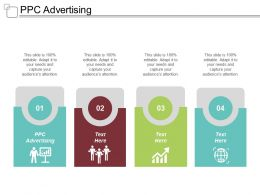 PPC Advertising Ppt Powerpoint Presentation Gallery Design Ideas Cpb