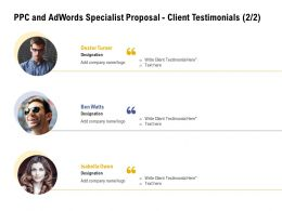 PPC And Adwords Specialist Proposal Client Testimonials L2061 Ppt Powerpoint Template