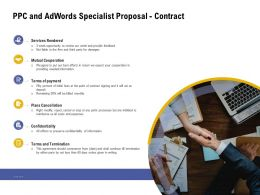 PPC And Adwords Specialist Proposal Contract Ppt Powerpoint Presentation Infographic