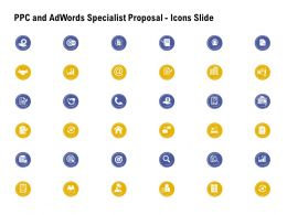 PPC And Adwords Specialist Proposal Icons Slide Ppt Powerpoint Presentation Ideas