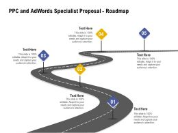PPC And Adwords Specialist Proposal Roadmap Ppt Powerpoint Presentation Pictures