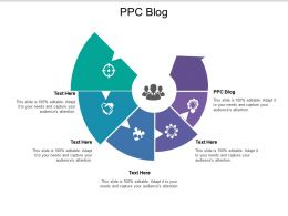 Ppc Blog Ppt Powerpoint Presentation Visual Aids Infographic Template Cpb