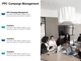 Ppc Campaign Management Ppt Powerpoint Presentation Outline Graphic Tips Cpb