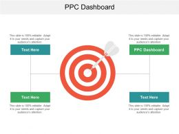 Ppc Dashboard Ppt Powerpoint Presentation Gallery Example File Cpb
