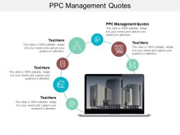 PPC Management Quotes Ppt Powerpoint Presentation Infographics Exampl Cpb