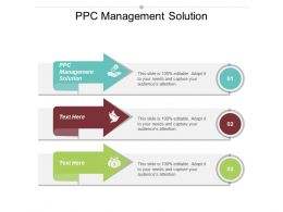 PPC Management Solution Ppt Powerpoint Presentation Gallery Designs Download Cpb