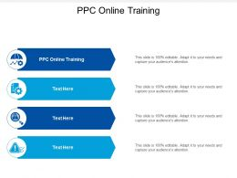 Ppc Online Training Ppt Powerpoint Presentation Infographics Pictures Cpb