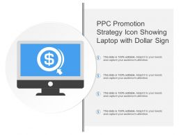 Ppc Promotion Strategy Icon Showing Laptop With Dollar Sign