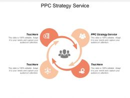 PPC Strategy Service Ppt Powerpoint Presentation Gallery Microsoft Cpb