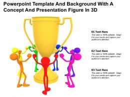Ppowerpoint Template And Background With A Concept And Presentation Figure In 3d