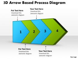 PPT 3d arrow based process diagram Business PowerPoint Templates 4 stages