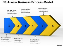 PPT 3d arrow business powerpoint theme process model Templates 6 stages