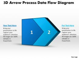 PPT 3d arrow process data flow network diagram powerpoint template Business Templates 2 stages
