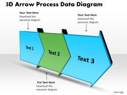 PPT 3d arrow process data powerpoint for kids diagram free Business Templates 3 stages