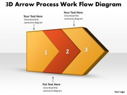 PPT 3d arrow process work flow swim lane diagram powerpoint template Business Templates 2 stages
