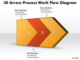 ppt_3d_arrow_process_work_flow_swim_lane_diagram_powerpoint_template_business_templates_2_stages_Slide01
