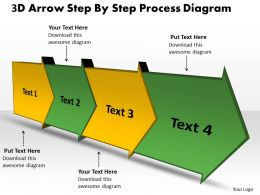 PPT 3d arrow step by process spider diagram powerpoint template Business Templates 4 stages