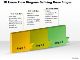 PPT 3d linear flow diagram defining three state Business PowerPoint Templates 3 stages