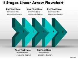 ppt_5_state_diagram_linear_arrow_flowchart_business_powerpoint_templates_5_stages_Slide01