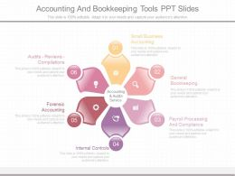Ppt Accounting And Bookkeeping Tools Ppt Slides