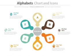 ppt Alphabets Chart With Icons For Real Estate And Business Process Flow Flat Powerpoint Design