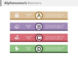 ppt Alphanumeric Banners For Financial Investment Analysis Flat Powerpoint Design
