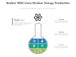 ppt Beaker With Icons Nuclear Energy Production Flat Powerpoint Design