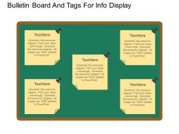 ppt Bulletin Board And Tags For Info Display Flat Powerpoint Design