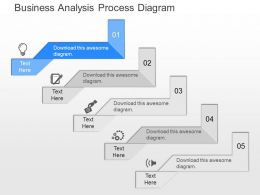 ppt Business Analysis Process Diagram Powerpoint Template