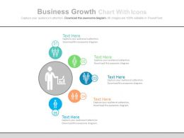 ppt Business Growth Chart With Icons Flat Powerpoint Design