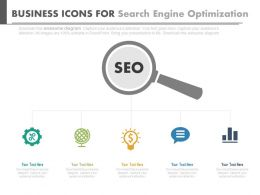 ppt Business Icons For Search Engine Optimization Analysis Flat Powerpoint Design
