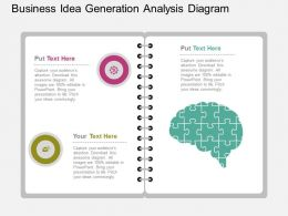 ppt Business Idea Generation Analysis Diagram Flat Powerpoint Design