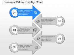 ppt Business Values Display Chart Powerpoint Template