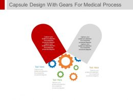 ppt Capsule Design With Gears For Medical Process Control Flat Powerpoint Design