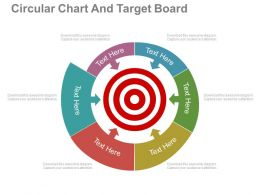 ppt Circular Chart And Target Board For Target Selection Flat Powerpoint Design