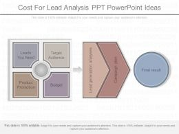 Ppt Cost For Lead Analysis Ppt Powerpoint Ideas