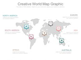 Ppt Creative World Map Graphic