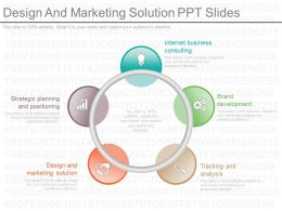 Ppt Design And Marketing Solution Ppt Slides