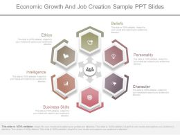 Ppt Economic Growth And Job Creation Sample Ppt Slides