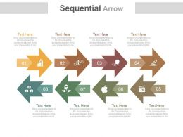 ppt_eight_staged_sequential_arrows_for_business_process_flat_powerpoint_design_Slide01