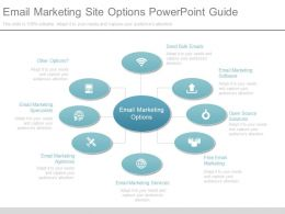 Ppt Email Marketing Site Options Powerpoint Guide