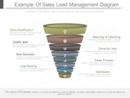 Ppt Example Of Sales Lead Management Diagram