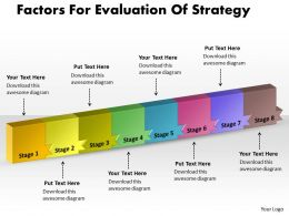PPT factors for evaluation of strategy Business PowerPoint Templates 8 stages