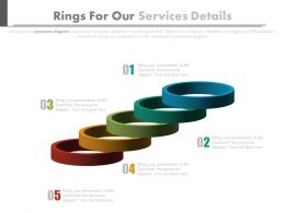 ppt Five Rings For Our Services Details Flat Powerpoint Design