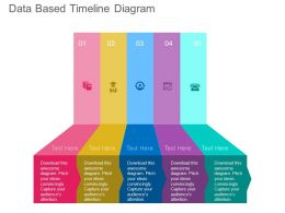 ppt Five Staged Data Based Timeline Diagram Flat Powerpoint Design