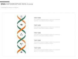 ppt Five Staged Dna Design Infographics With Icons Flat Powerpoint Design