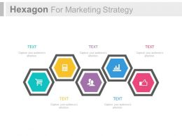 ppt Five Staged Hexagons For Marketing Strategy Flat Powerpoint Design