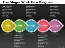 PPT five stages work flow spider diagram powerpoint template Business Templates 5 stages